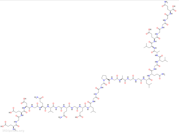 C-peptid szerkezeti képlete