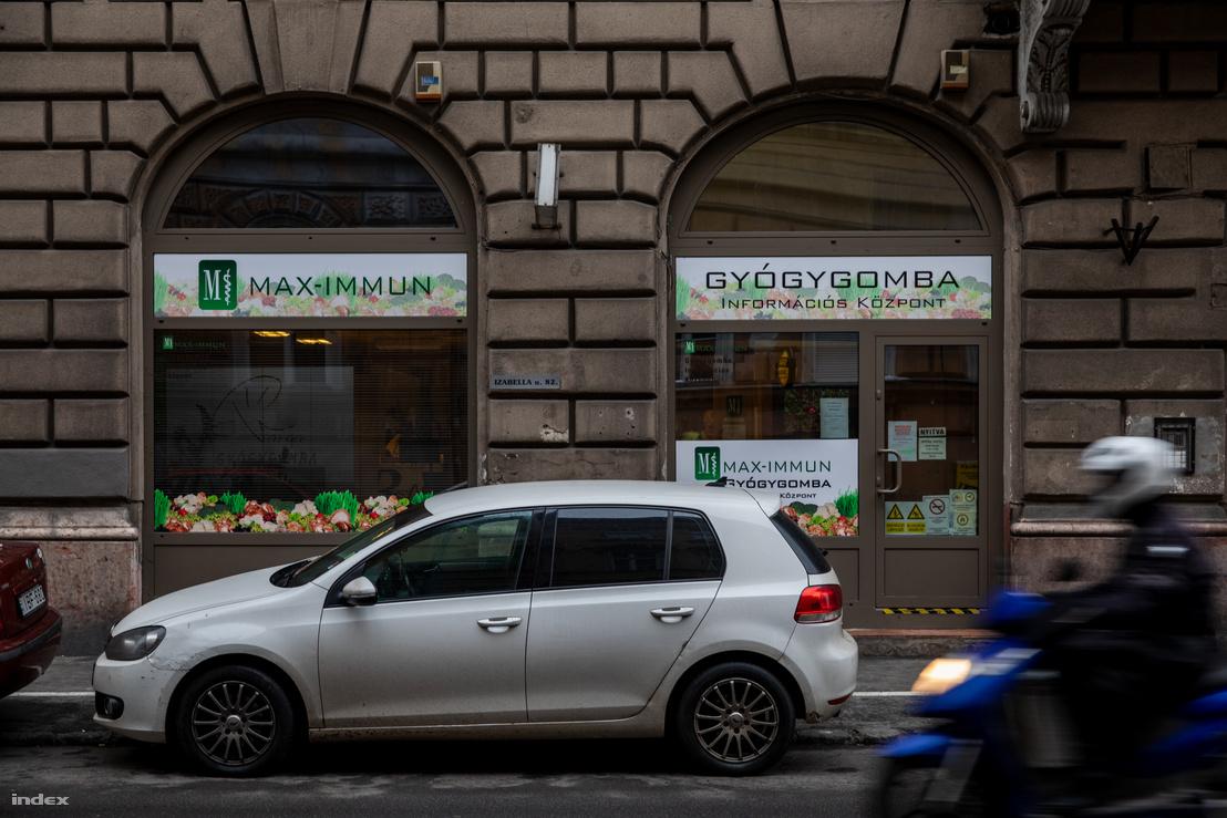 MAX-IMMUN egyik budapesti üzlete, ahol a Vargapeptide kapható