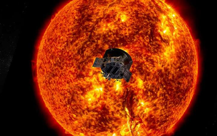 A Nap felé közelítő Parker szonda fantáziaképe