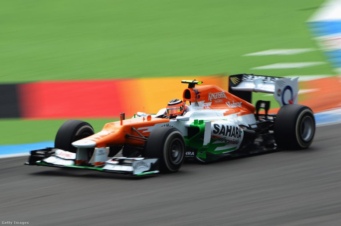 Nico Hülkenberg a Force India versenyzőjeként 2012-ben a Német Nagydíjon.