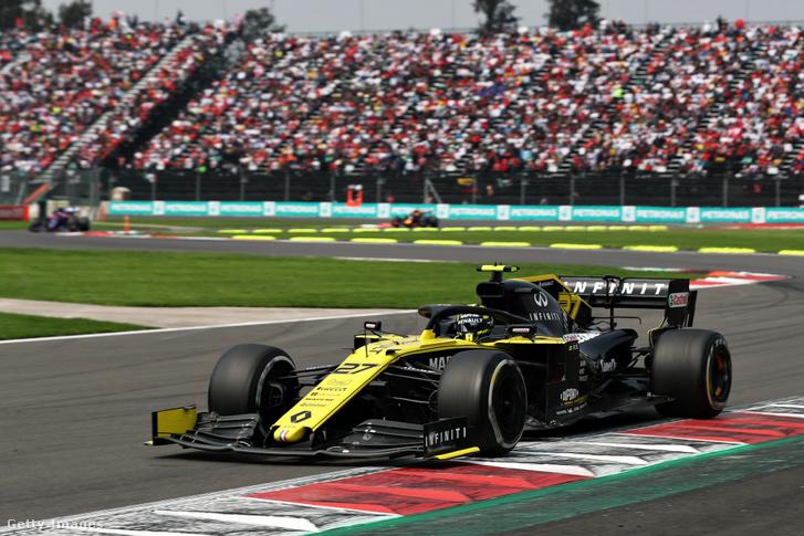 Nico Hülkenberg a Renault csapatában a Mexikói Nagydíjon 2019-ben.