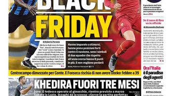 Black Friday: rasszista címlappal vezeti fel az Inter-Roma-rangadót egy olasz lap