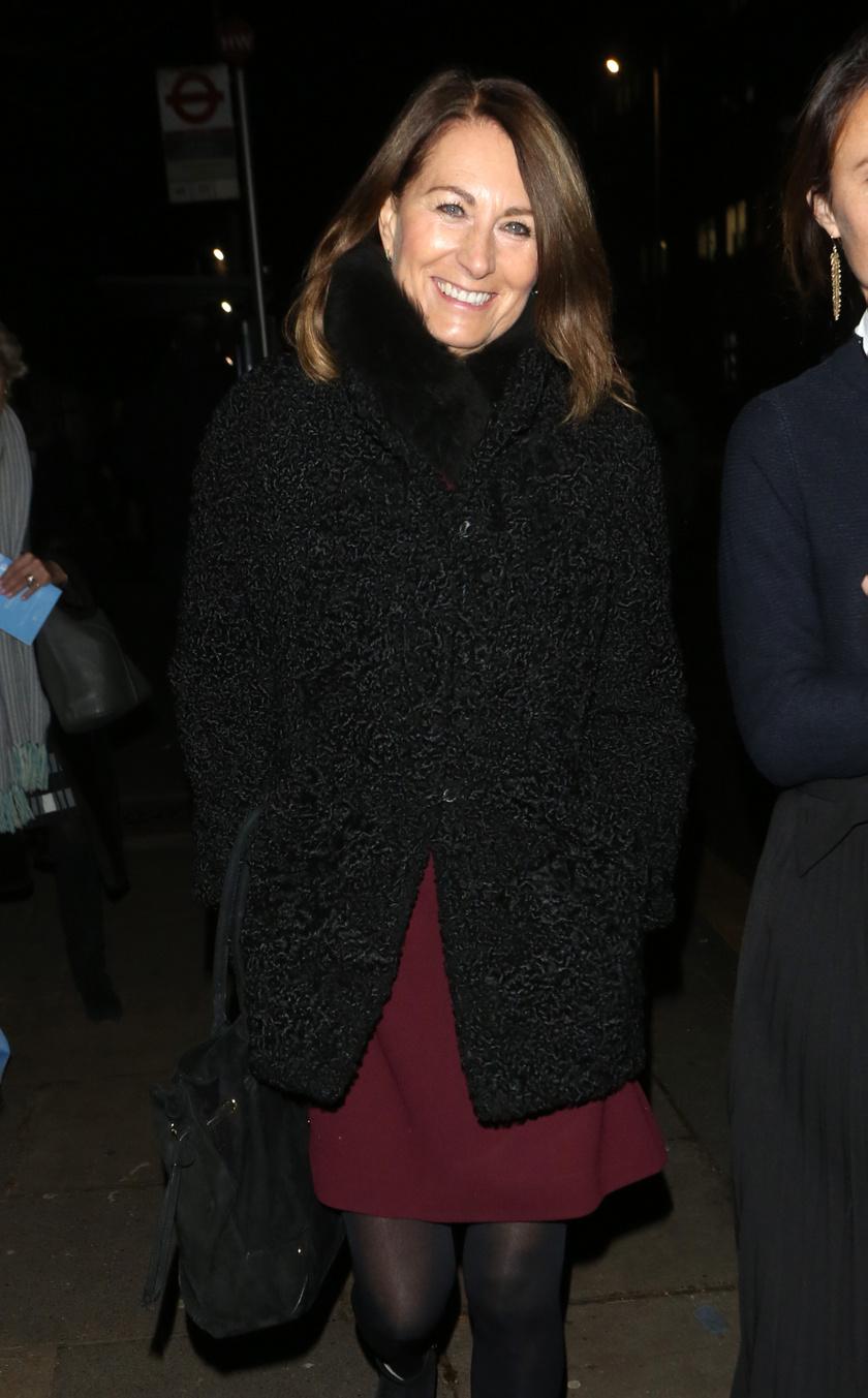 Carole Middletont szerda este, Londonban kapták lencsevégre.