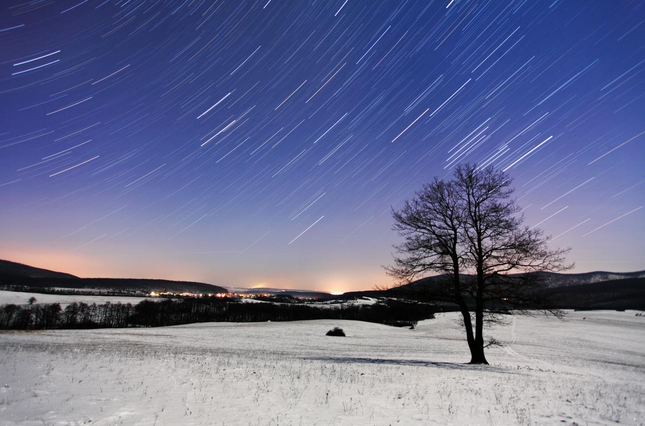 csillaghullás télen