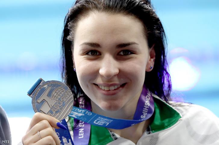 Késely Ajna ezüstérmes lett 800 méteres gyorsúszásban a glasgow-i rövidpályás úszó-Eb-n
