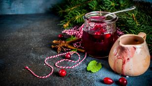 Az ajándékok dzsókere: karácsonyi, vörösáfonyás eperdzsem szegfűszeggel és vaníliával
