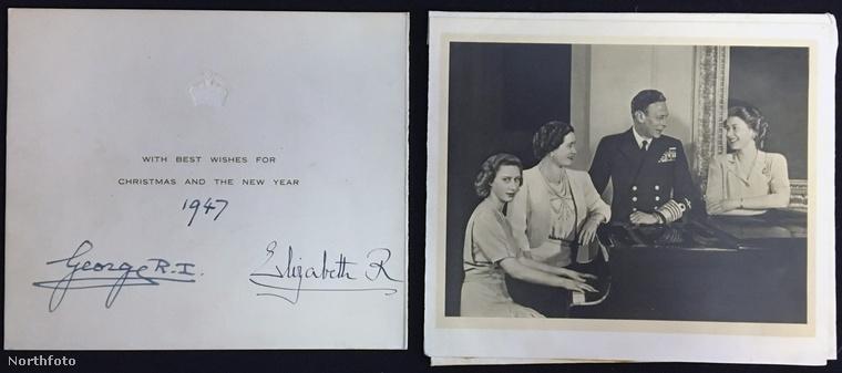 Egy árverés kapcsán napvilágra került 20 karácsonyi üdvözlőlap, amit egy brit házaspár kapott a királyi családtól 1947 és 1972 között