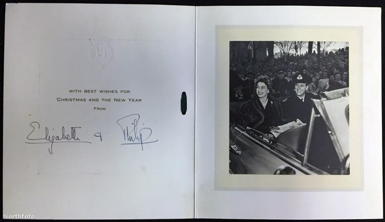 Az 1951-es lapot már Erzsébet hercegnő és Fülöp herceg küldték
