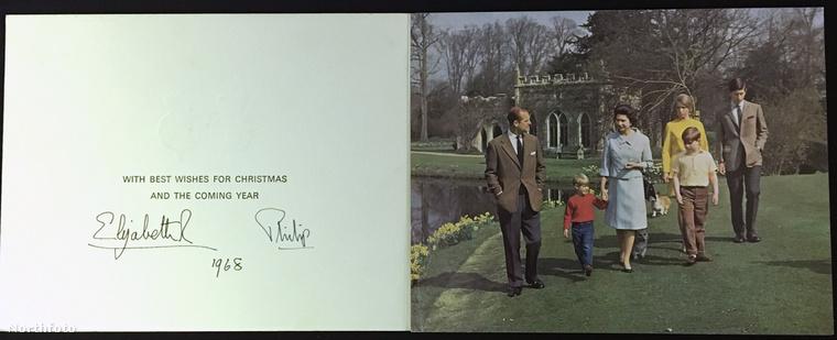 1968-ban egy elég tavaszias hangulatú fotót választottak a karácsonyi üdvözlethez