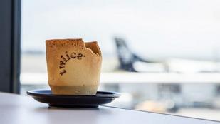 Ehető kávéscsészéket ad a fedélzeten egy légitársaság