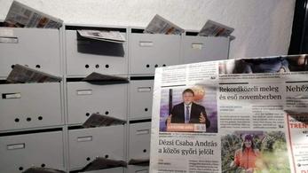 A Fidesz politikusát kínálja közös jelöltként a Kisalföld postaládás különszáma a címlapján