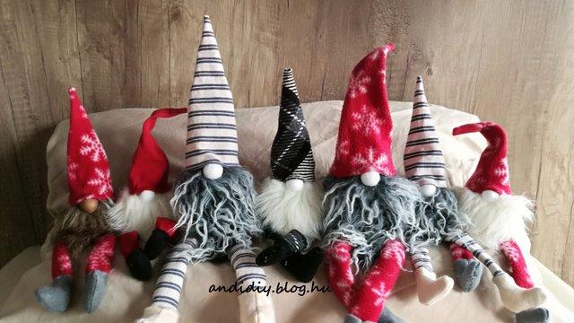 Karácsonyi manó készítése