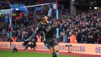 Vardy duplázott, tovább szárnyal a Leicester