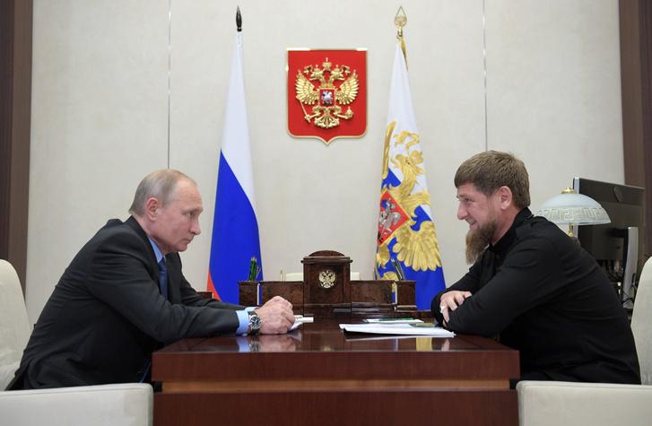 Vlagyimir Putyin és Ramzan Kadirov találkozója 2019. augusztus 31-én
