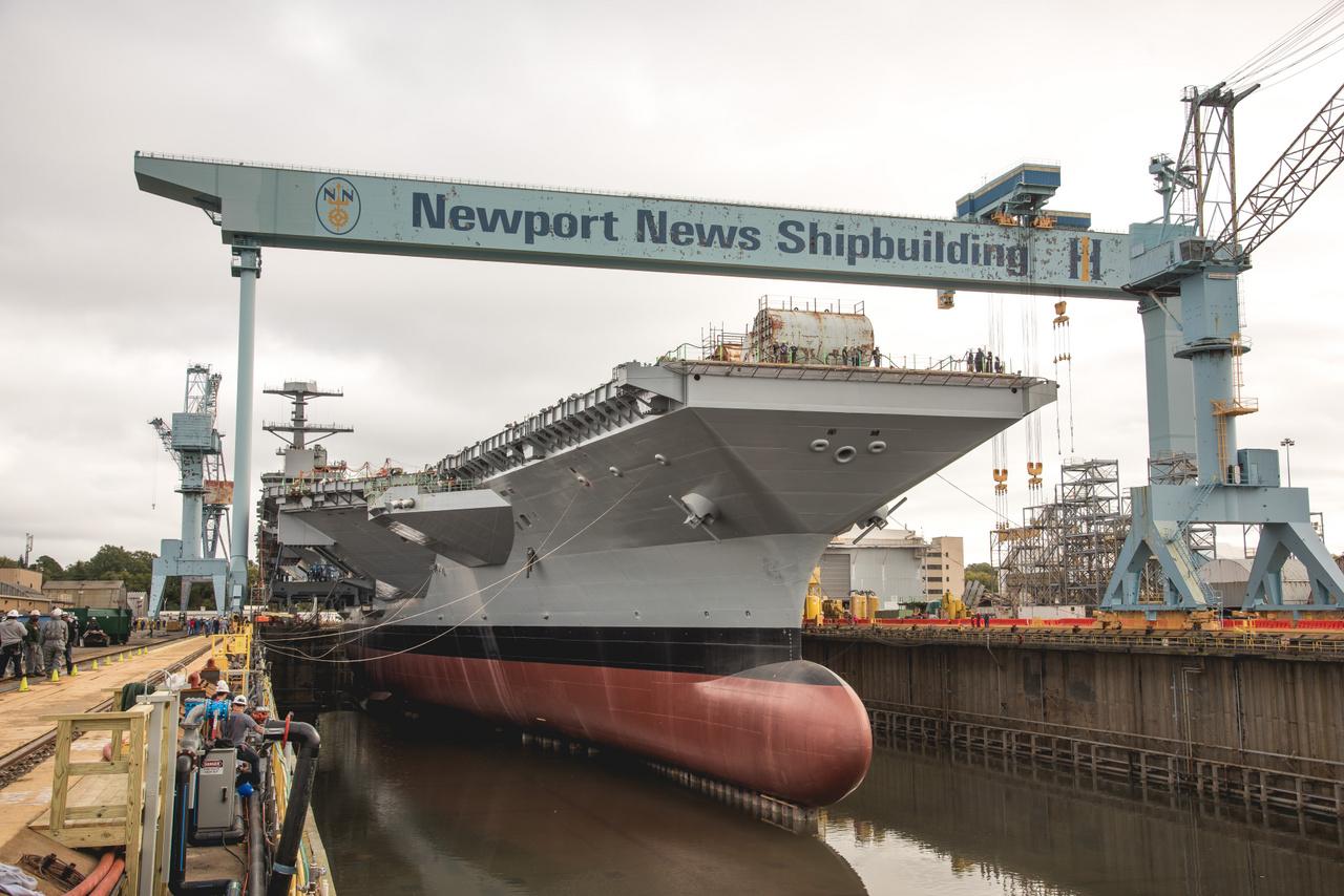 2019. október 29-én vízzel árasztották el a 12-es szárazdokkot, amivel megkezdődött a hadihajó vízi pályafutása.