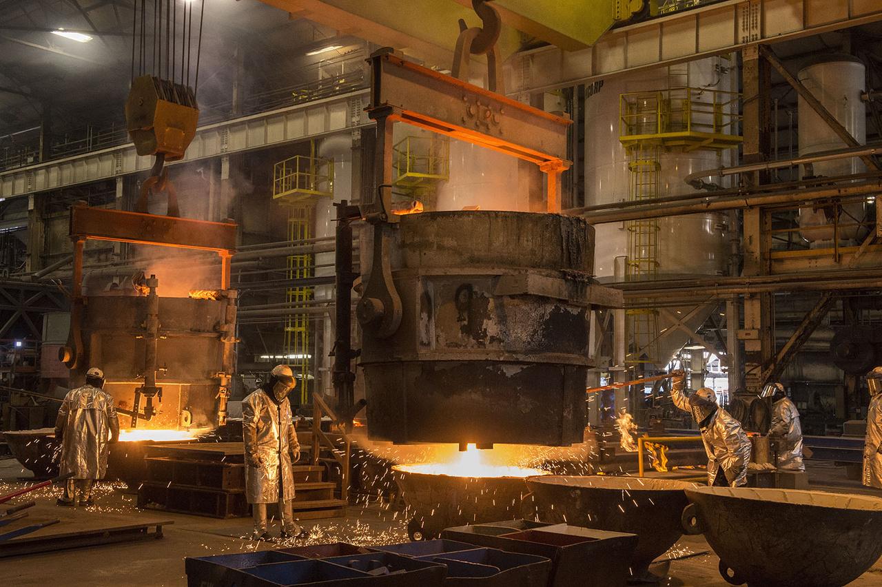 2015. szeptember 11. Készülnek a hajó merevítői a gyár öntődéjében.