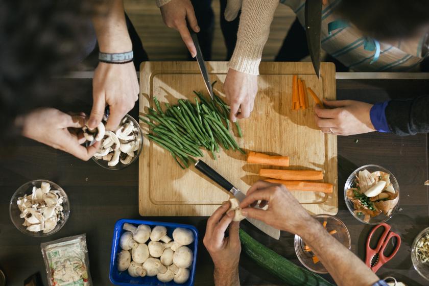 zöldség szeletelés