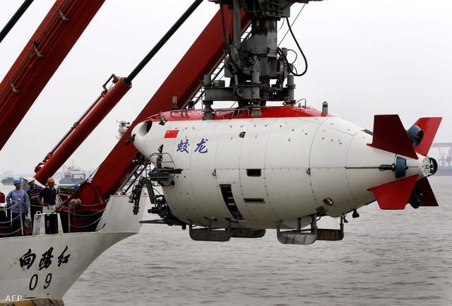 A Csiaolung merülőkabin tavalyi merülése után a Kína keleti partjainál
