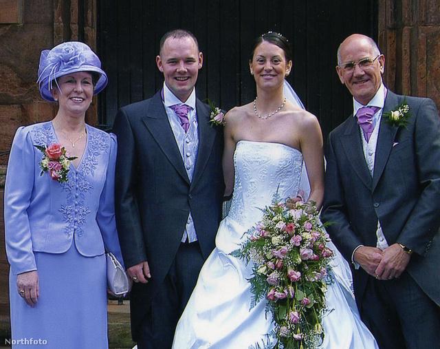 Charlotte Kendrick és Richard Tonks esküvői fotója