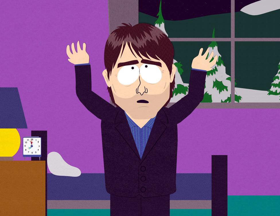 Tom Cruise a filmsikerei mellett leginkább arról híres, hogy a szcientológia elkötelezett híve. A vallásokat, és különösen a szcientológiát rendszeresen cikiző South Park készítői ezért a 2005-ös Egy házba zárt közösség című részben alaposan gúnyt űztek a színészből, és egy másik híres szcientológusból, John Travoltából.