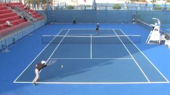 Egyetlen pontot sem tudott beütni az elvileg profi teniszező