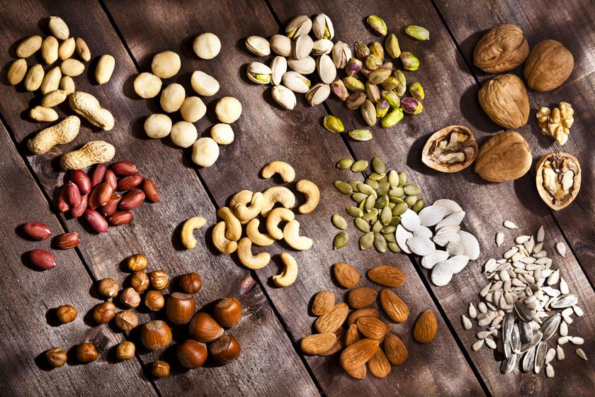 Olajos magvakból 50 gramm megengedett naponta. A magvak közül a makadámdiónak van a legmagasabb kalóriatartalma, 50 grammban 360 kcal, míg a szelídgesztenyében csupán 100 kalória van.