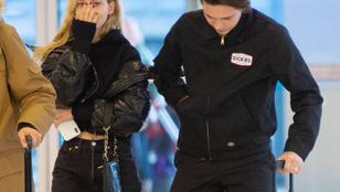 Brooklyn Beckham új barátnőjével ölelkezett a reptéren