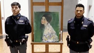 Titokzatos módon megkerült Klimt-képet mutattak be