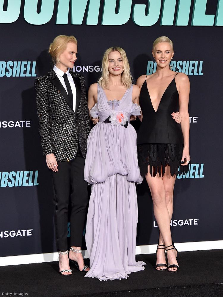 Kedd este díszvetítésen mutatták be a Bombshell (Botrány) című filmet, aminek három főszereplője Nicole Kidman, Charlize Theron és Margot Robbie