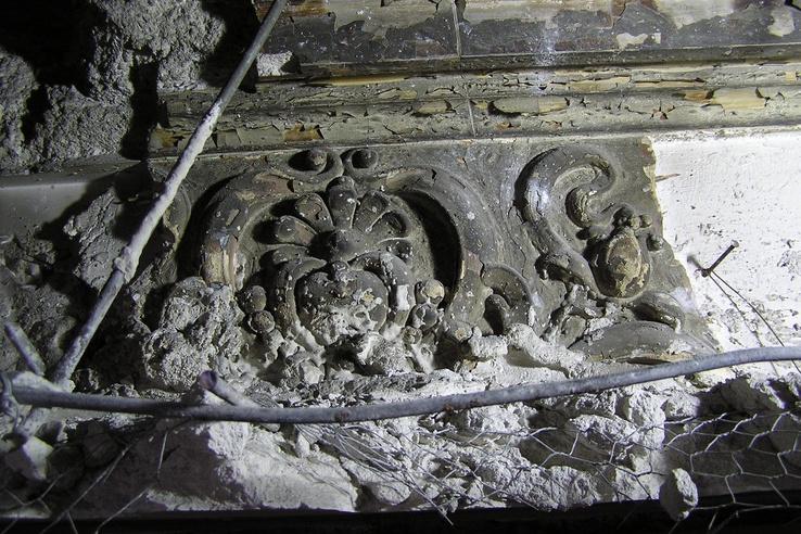 Stukkópárkány, amely a Szent István-terem előtti folyosót díszítette