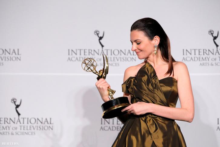 Gera Marina az Emmy-díjátadón New Yorkban 2019. november 25-én
