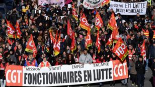 Karácsonykor is sztrájkolnak a közlekedési dolgozók Franciaországban