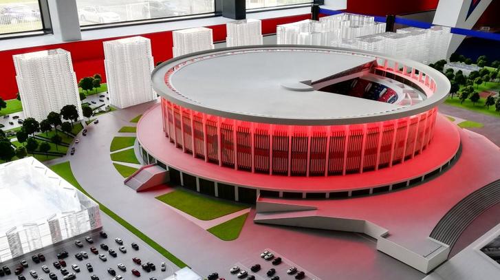 2023-ra tervezett hokicsarnok Szentpéterváron