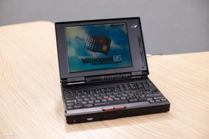 Igazi ritkaság, egy Thinkpad 365-ön futó Windows 95-ös operációs rendszer