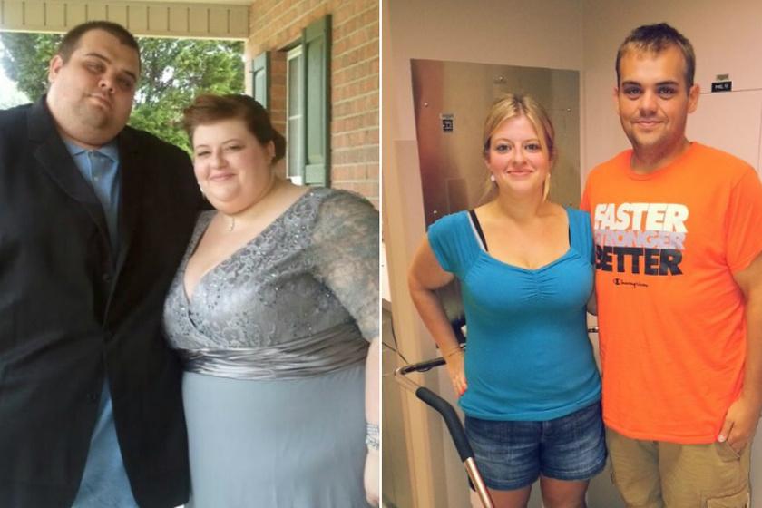 Kóros túlsúlyban szenvedett 2011-ben Lauren és Justin Shelton. A férfi több mint 265, a nő 150 kiló volt. Végül 2012 februárjában kemény fogyókúrába kezdtek, és 19 hónap alatt Justin 162 kilótól szabadult meg, Lauren pedig 80-tól. Kalóriaszámolásba fogtak, együtt járta edzeni heti öt napot, és csak kivételes esetekben ültek be étterembe enni. Az eredmény magáért beszél.