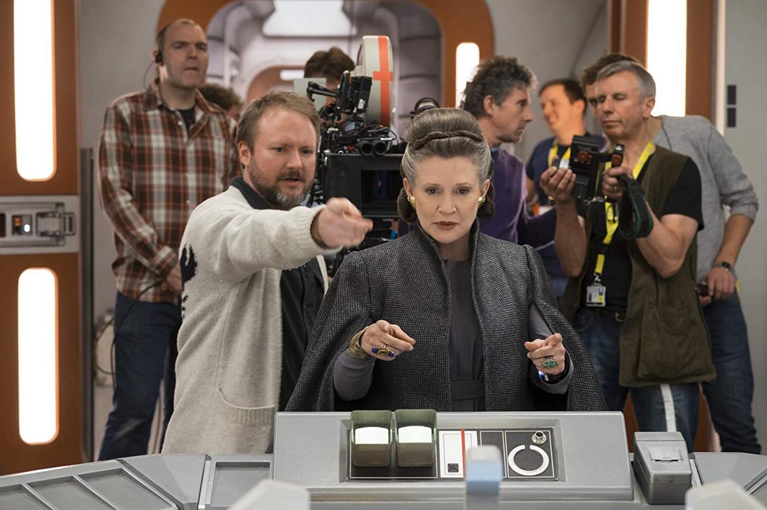 Carrie Fisher Az utolsó Jedi forgatásán.