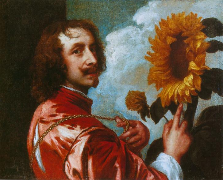 Anthonis van Dyck - Önarckép napraforgóval
