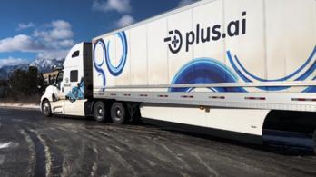 Átvezetett Amerikán egy önvezető kamion