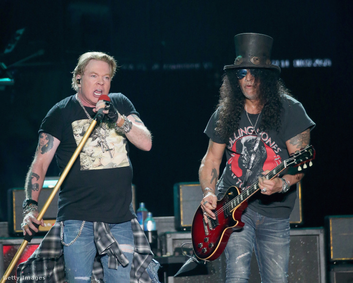 Axl Rose és Slash 2019-ben