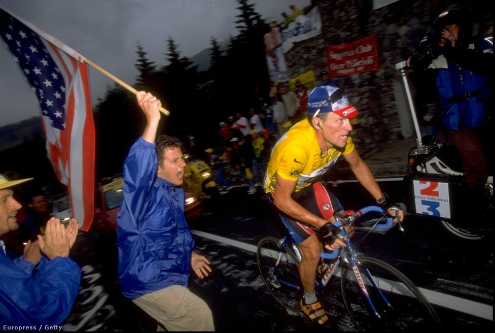 Lance Armstrong a Tour-rekorder, 1999 és 2005 között hétszer nyert sorozatban.