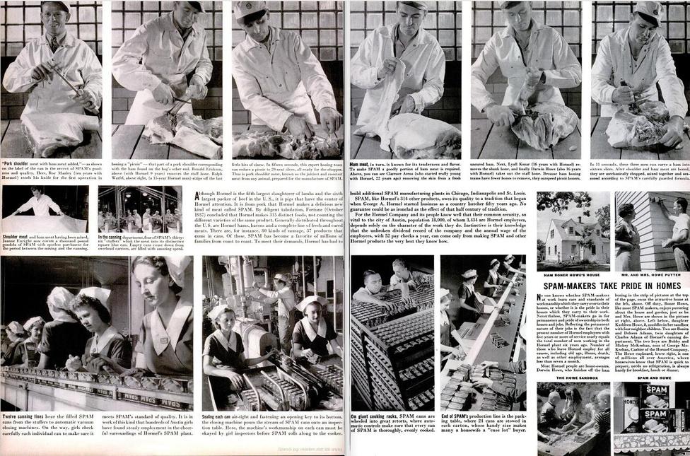 A Life magazin 1939. november 6-i számában többoldalas nagy riportban foglalkozott a Spamet gyártó céggel.
