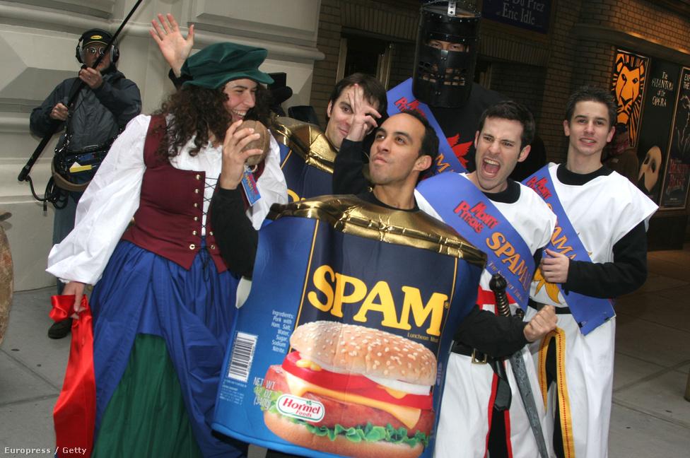 A Hormel Foods egyébként egyáltalán nem orrolt meg a Monty Python csoportra, olyannyira nem, hogy büszkén adták nevüket és terméküket a dologhoz. Az együttműködésből 2004-ben színdarab is született, az 1970-es jelenet ihlette Spamalot máig sikerrel szerepel a színházak műsorán.