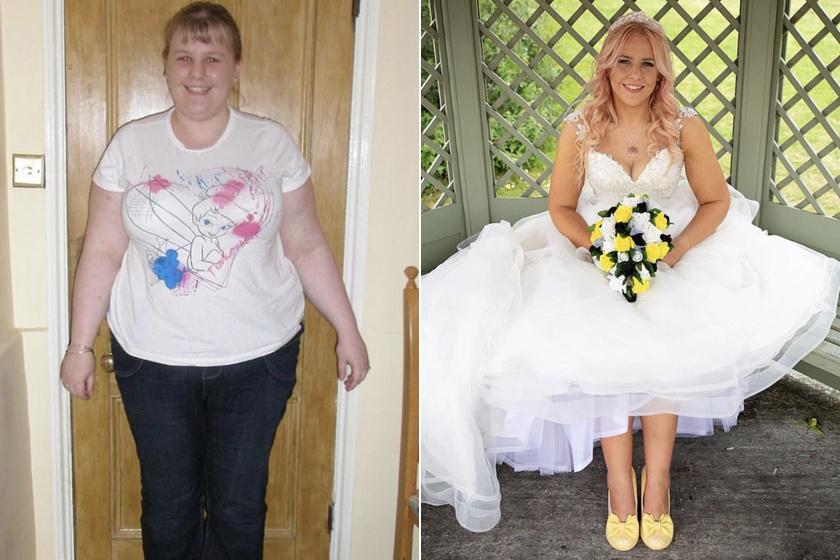 menyasszony fogyás előtt és után