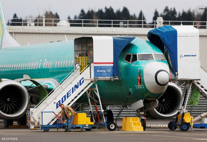 737 MAX a Boeing gyárában 2019 december 16-án