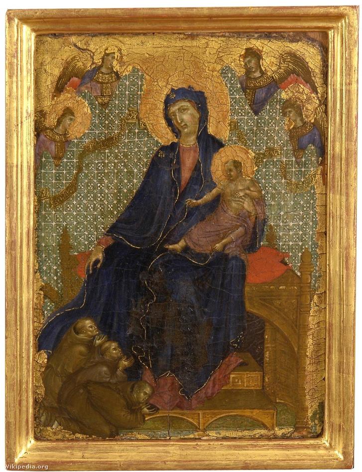 Duccio di Buoninsegna: Ferences Madonna (1300 körül)