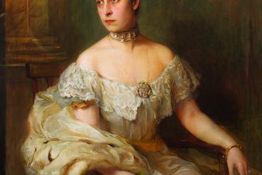 László Fülöp: Sarolta szász-meiningeni hercegné, 1899