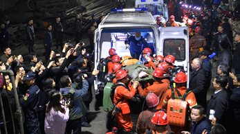Nyolcvan óra után sikerült kimenteni a bányászokat Kínában