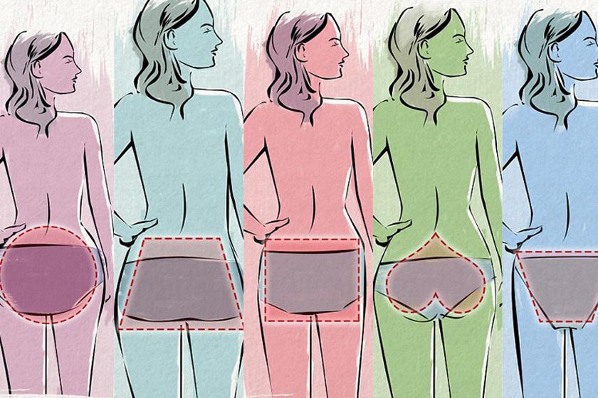 Szögletes, kerek, szív vagy háromszög? A feneked az anyagcseretípusodról is árulkodik