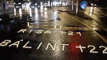 Nevek mécsesekből – gyertyás akcióval kampányol a BRFK a biztonságos közlekedésért
