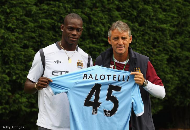 Balotelli és Mancini 2010-bem